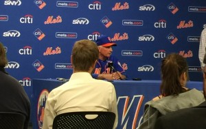 Mets manager Terry Collins addresses the New York media post-game.