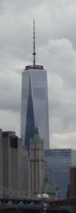 New York's Freedom Tower from the view of the East River. It serves as a symbol of resiliency.