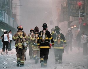 A Walk of Courage. The FDNY were as heroes at Ground Zero.