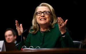 """""""What difference does it make?"""" Sec. Clinton testifying before the House Select Committee on Benghazi on October 22, 2015. (Courtesy: Jason Reed/REUTERS)"""