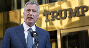 New York City Mayor Bill de Blasio has been vocal about his dissent and refusal to abide by President Trump's policies.