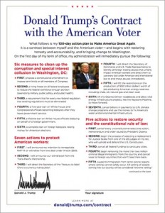 """Donald Trump's Contract with the American Voter,"" President Trump's ambitious agenda and his promise to the American people."