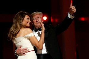 President Trump and First Lady Melania Trump share a dance at the Liberty Ball. (Reuters/Jonathan Ernst)