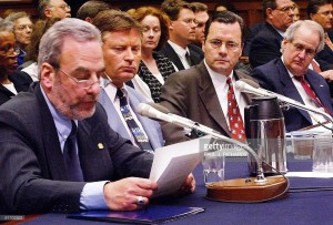 Retired INS Agent Michael Cutler testifies in March 2002 on Capitol Hill in front of the U.S. House of Representatives Committee on the Judiciary Subcommittee on Immigration and Claims about the 9/11/01 terrorist attacks. (Getty Images)