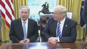 Texas Gov. Greg Abbott praises Charter Communications' announcement to invest in the U.S. (Courtrsy: Olivier Douliery, White House Pool)
